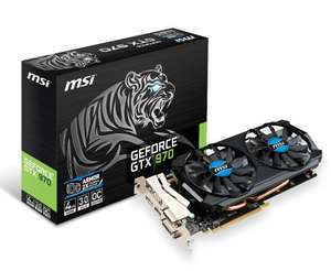 Carte graphique MSI GeForce GTX 970 OC - 4 Go