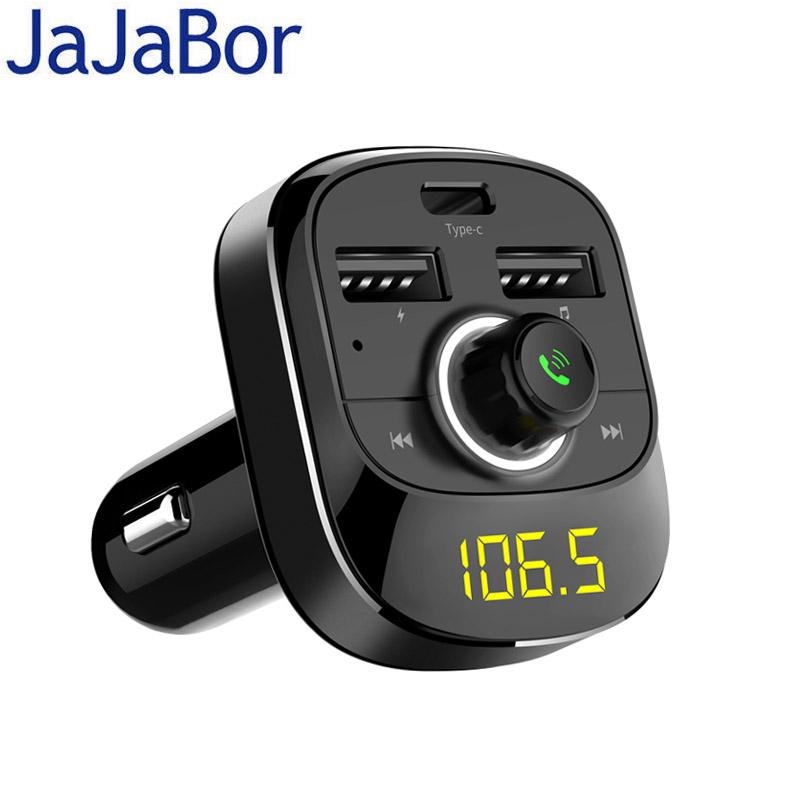 Adaptateur Bluetooth FM 3.1A Jajabor - 2 Ports USB + Port Type-C