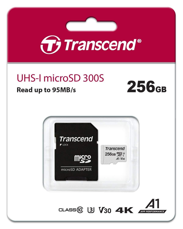 Carte mémoire MicroSDXC Transcend 300S - 256 Go (vendeur tiers)
