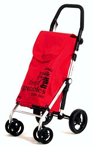 Chariot de course Carlett Lett450-2 - Aluminium, 62x19x29 cm, Rouge