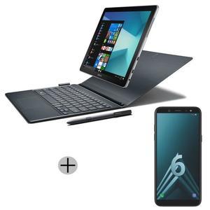 """Pack Tablette 12'' Samsung Galaxy Book (FHD+, i5-7200U, RAM 4Go, 128go SSD, Windows 10) + Smartphone 5.6"""" Samsung A6 (via ODR de 150€)"""