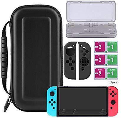 Kit de protection pour Nintendo Switch - Housse, étui cartouches, films de protection et housse Joy-Con (Vendeur tiers - Expédié par Amazon)