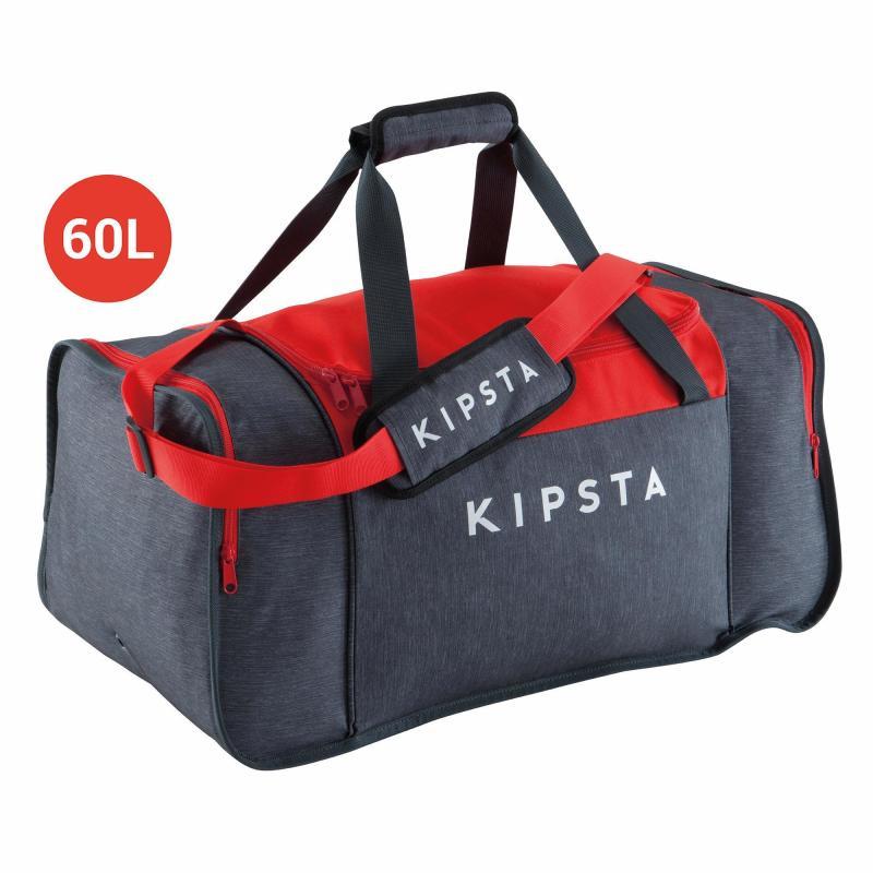 Sac de sports Kipsta Kipocket - 60L Gris / Rouge