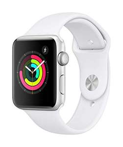 Montre connectée Apple Watch Series 3 GPS (42 mm) - Boîtier en Aluminium Argent avec Bracelet Sport Blanc