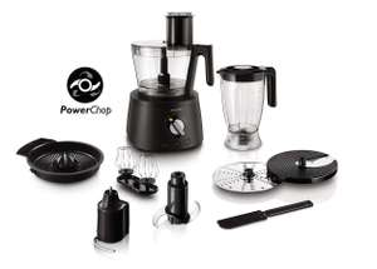 Robot de cuisine 3-en-1 Philips Avance Collection HR7776/90 PowerChop - 1300W + Accessoires