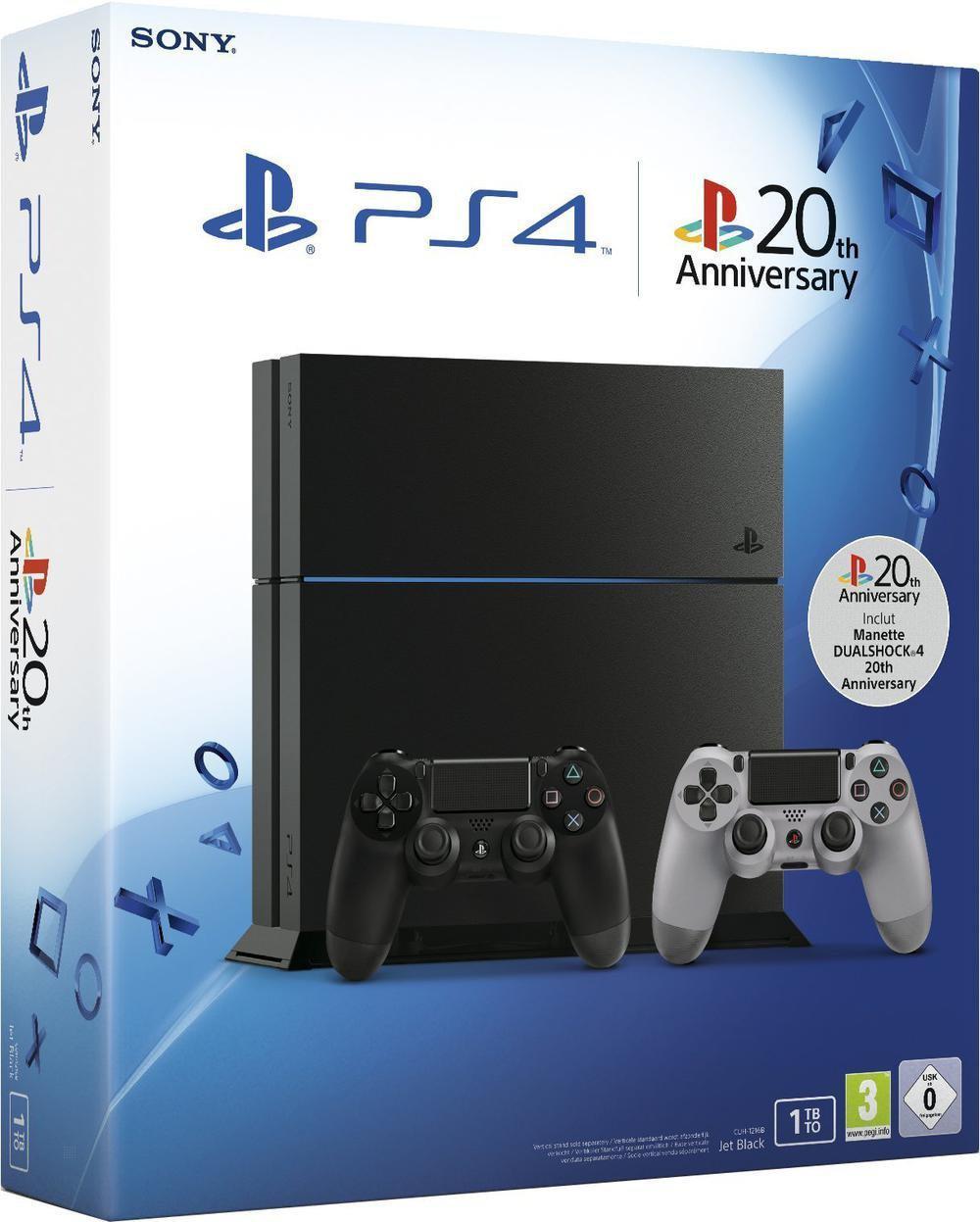 Console PS4 1 To + Uncharted Collection + 2ème Manette Dual Shock 20ème anniversaire + 1 porte-clefs + livre Playstation Anthology