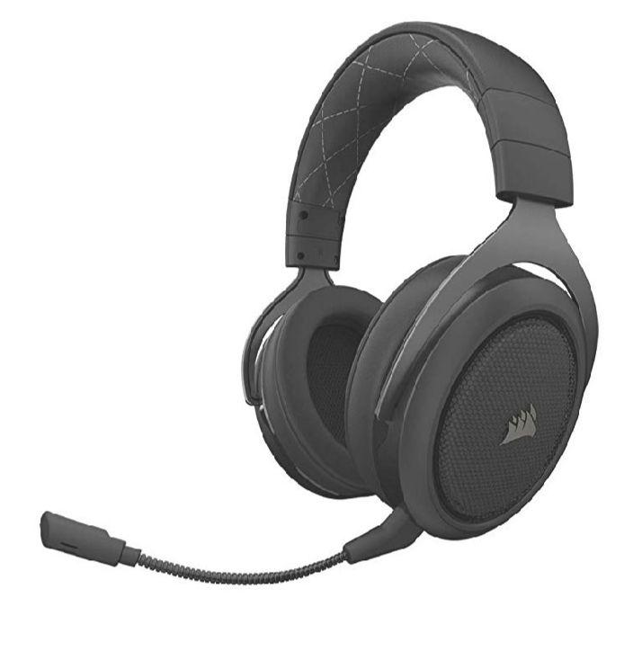 Micro-casque sans fil Corsair HS70 - 7.1 Surround Sound pour PC/PS4, Carbon