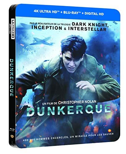 Blu-Ray Dunkerque avec Steelbook (4K Ultra HD + Blu-ray + Digital HD)