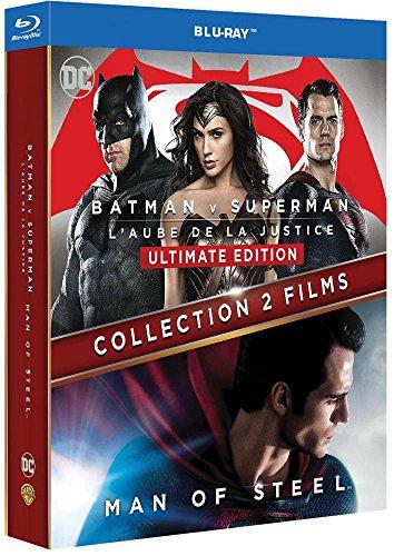 Coffret Blu-ray Batman v Superman : L'Aube de la Justice + Man of Steel