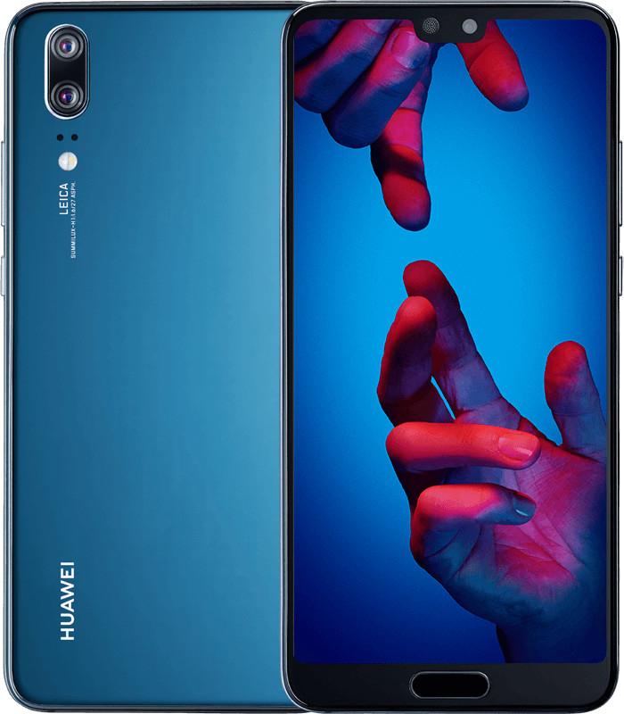 "Smartphone 5.8"" Huawei P20 - full HD+, Kirin 970, 4 Go de RAM, 128 Go, bleu"