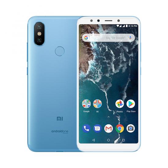 """Smartphone 5.99"""" Xiaomi Mi A2 - full HD+, SnapDragon 660, 4 Go de RAM, 64 Go, bleu (via ODR de 30€)"""