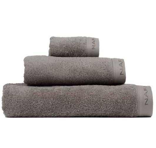 Set de 3 Serviettes Naf Naf Casual - 100% coton, 500gr/m², Gris