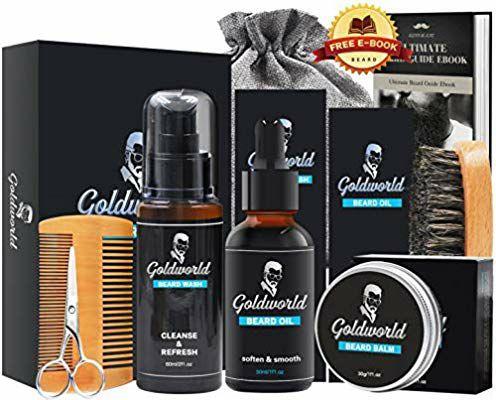 Sélection de kits d'entretien de la barbe - Ex : Kit complet GoldWorld (vendeur tiers)
