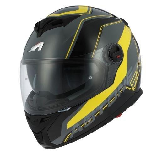 Casque de Moto ASTONE GT800 Wire  - Noir et Jaune