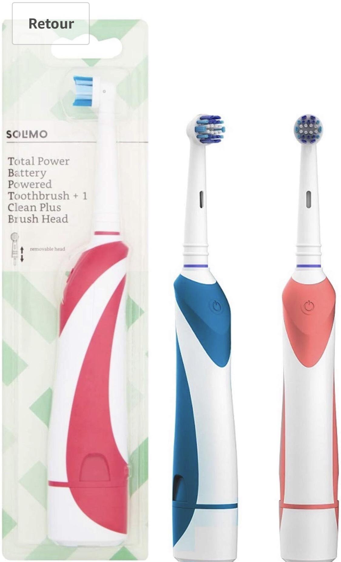Pack de 2 Brosses à Dents Electriques Solimo Total Power avec Tete Clean Plus