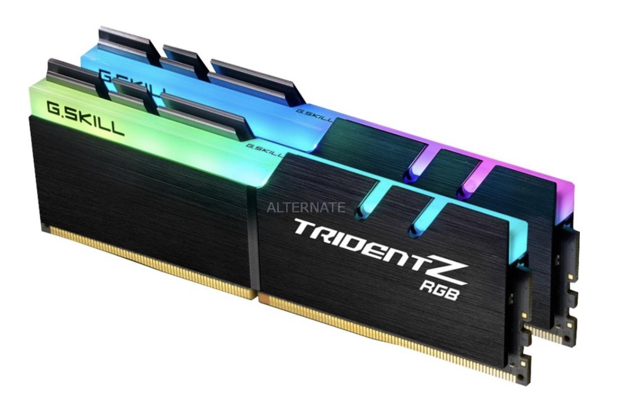 Kit mémoire RAM G.Skill Trident Z RGB - 2x16 Go, DDR4, 3200MHz, CAS14