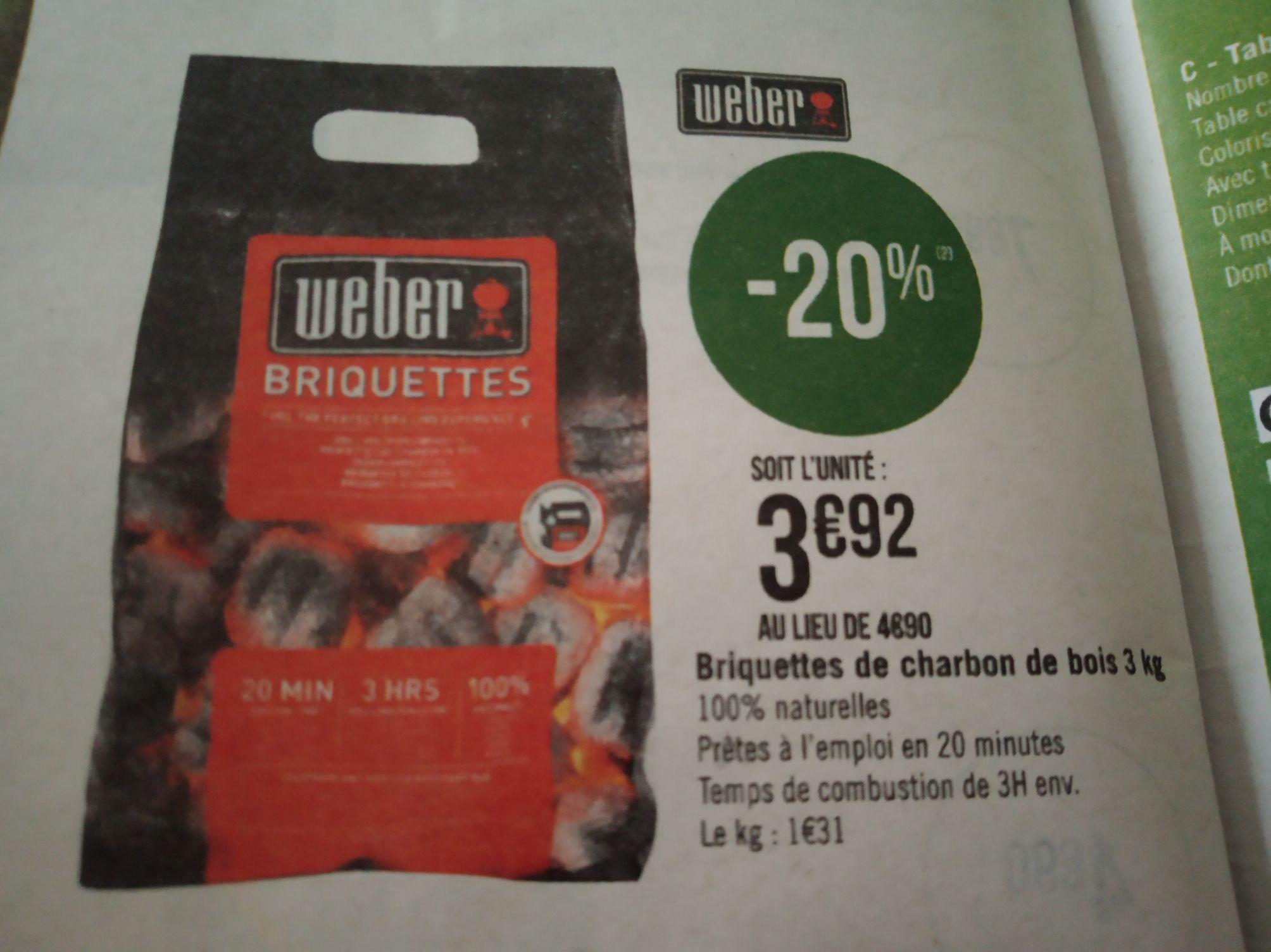 Briquettes de charbon Weber - 3Kg