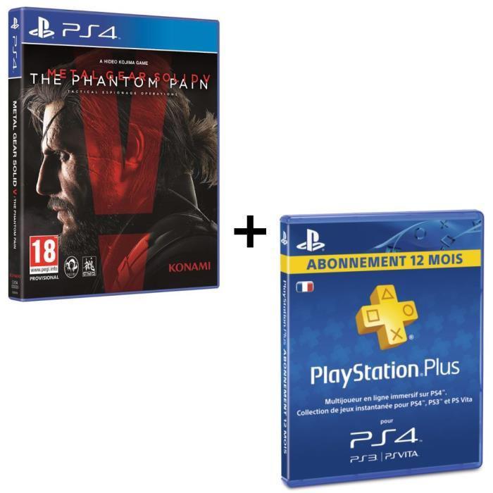Metal Gear Solid V : The Phantom Pain sur PS4 + Abonnement de 12 mois au Playstation Plus