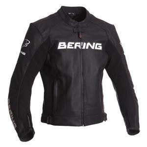 Blouson moto cuir Bering Sawyer - Noir