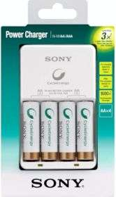 Kit chargeur Sony + 4 piles rechargeables AA (2100 mAh)