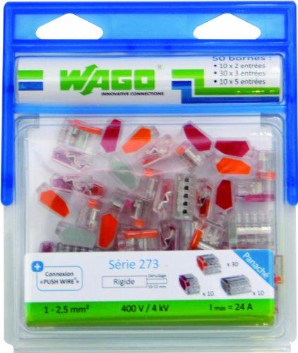 Pack de 50 bornes Wago WAG273/PAN50 - 2, 3 et 5 entrées