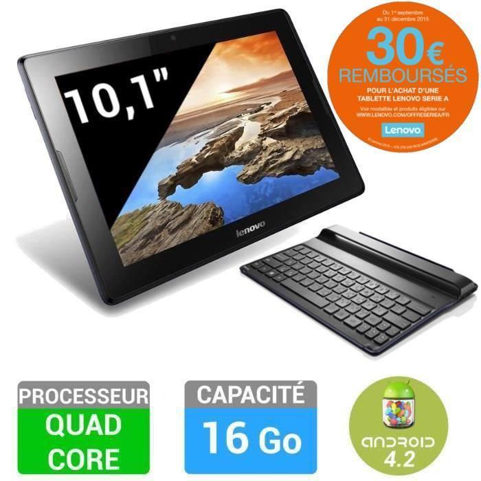 """Tablette 10"""" Lenovo IdeaPad A10-70 avec ou sans clavier (ODR de 30€)"""