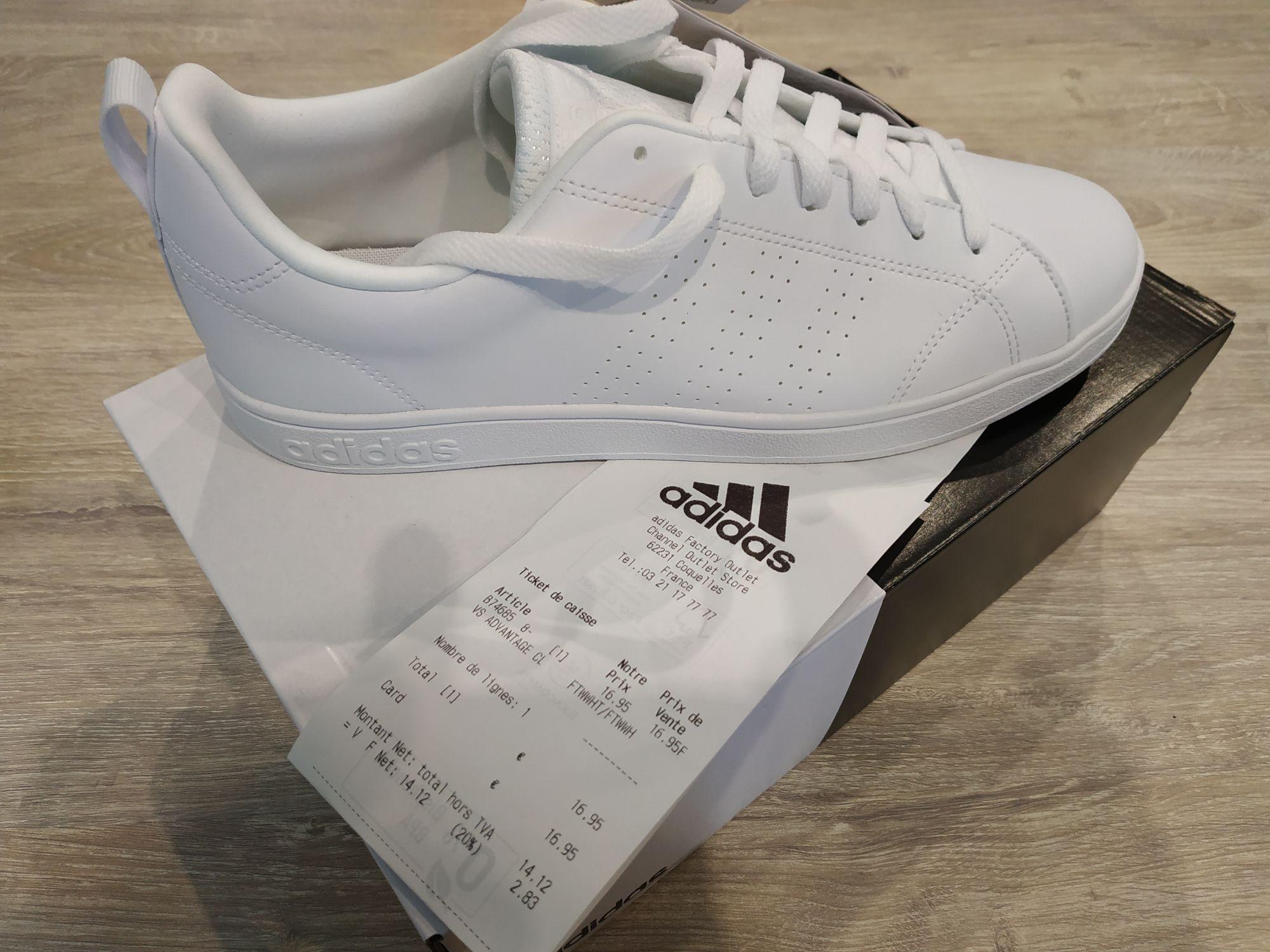 Baskets Adidas VS Advantage - Taille 42 2/3 - Adidas Factory Outlet Coquelles (62)