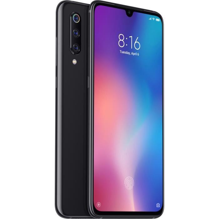 "Smartphone 6.39"" Xiaomi Mi 9 - SnapDragon 855, 6 Go de RAM, 64 Go, piano black (+ Jusqu'à 80€ en superpoints)"