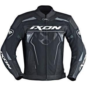 Blouson de moto Ixon  Frantic - Cuir, Noir et Blanc
