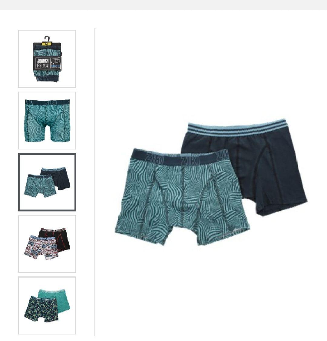 Lot de 2 Boxers Ziki pour Hommes - Tailles & Coloris au choix