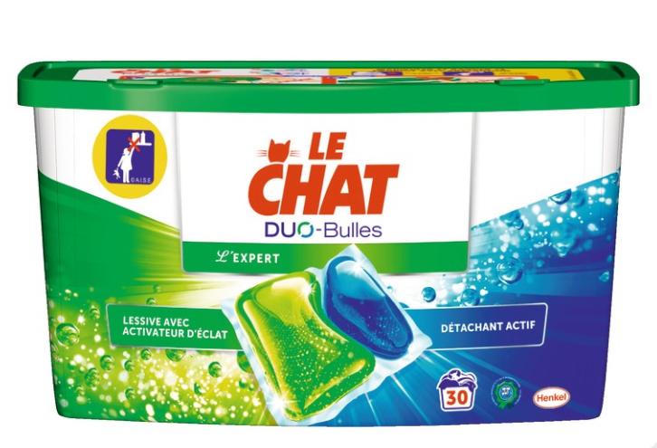 Boite de 30 capsules de lessive Le Chat Duo-Bulles (via 6.29€ carte fidélité)