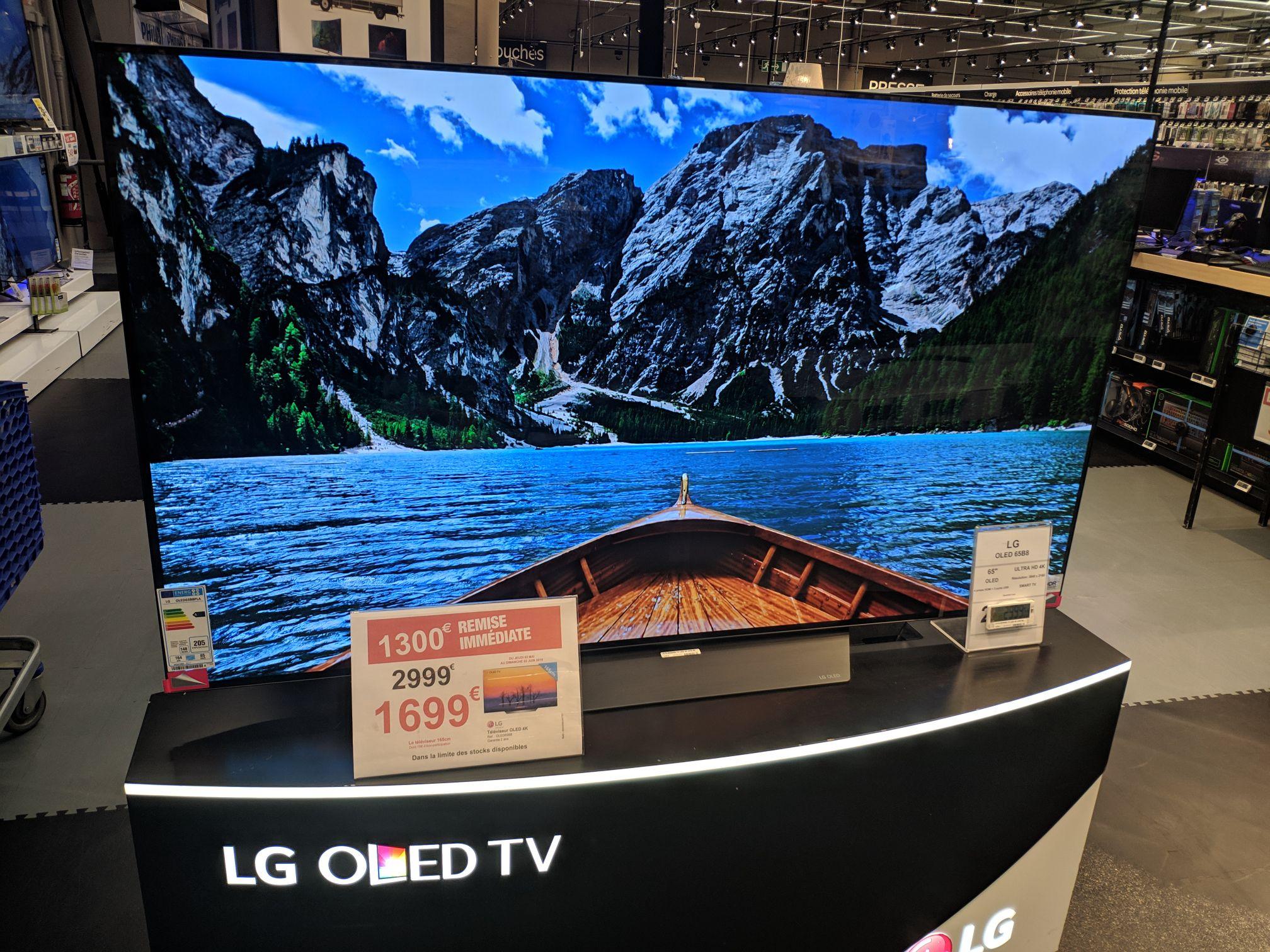 "TV 65"" LG 65B8 - 4K UHD, Oled - Carrefour collégien (77)"