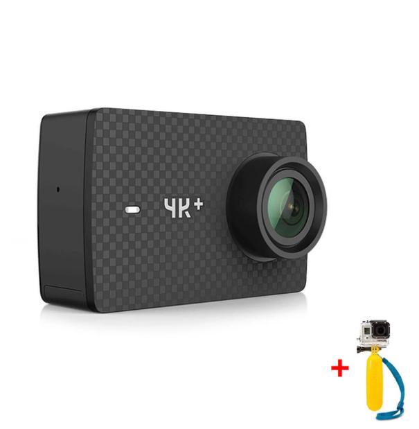 Caméra sportive Yi 4K+ (4K UHD, 60 fps)  + carte microsd 64 Go + monopode flottant