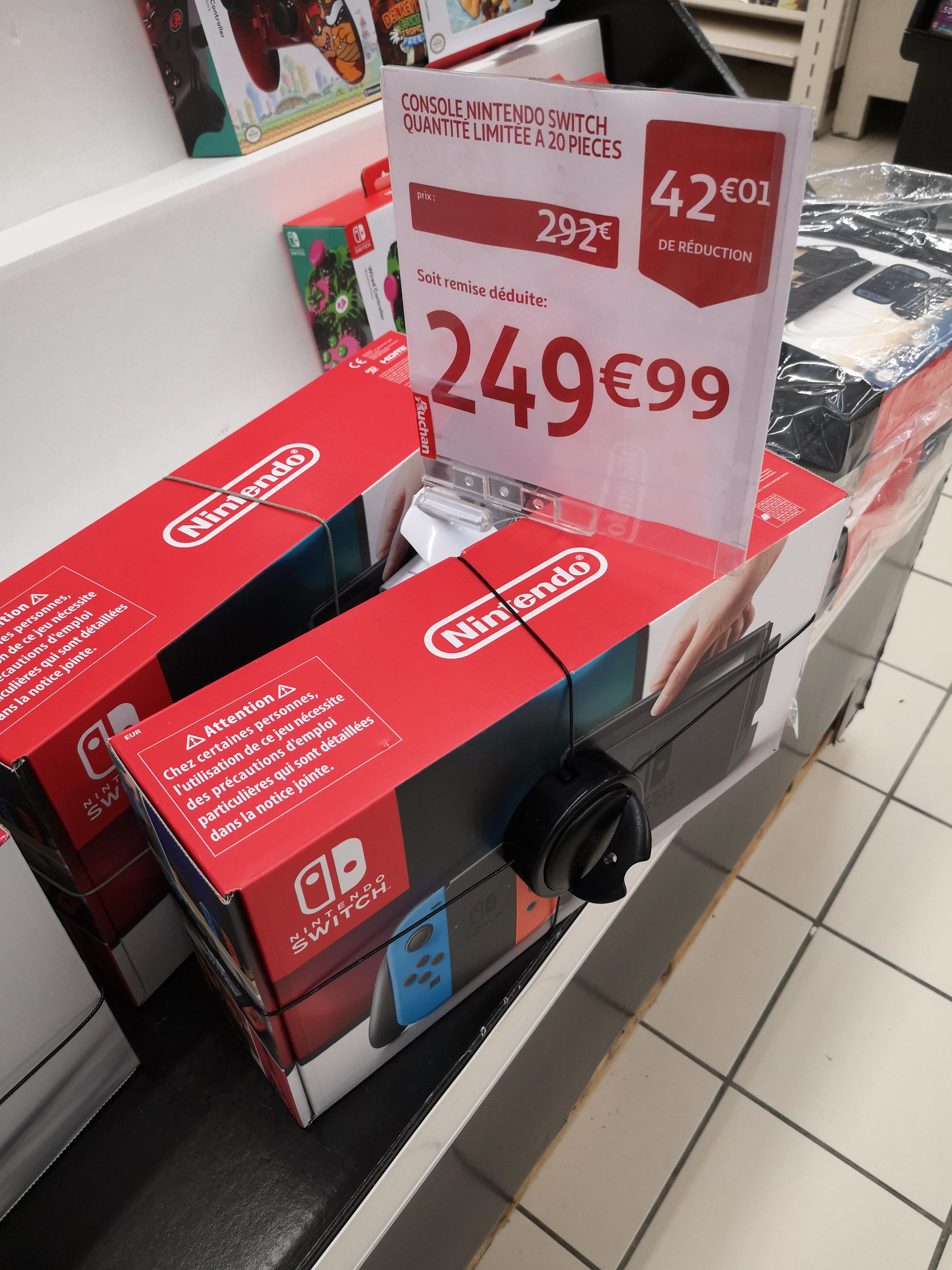 Console Nintendo Switch avec Joy-Con - rouge néon/bleu néon - Guilherand Grange (07)