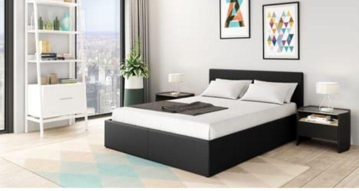 Lit coffre sommier inclus avec tête de lit WIllow - 140x190cm