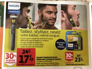 Rasoir Philips One Blade avec 3 sabots clipsables