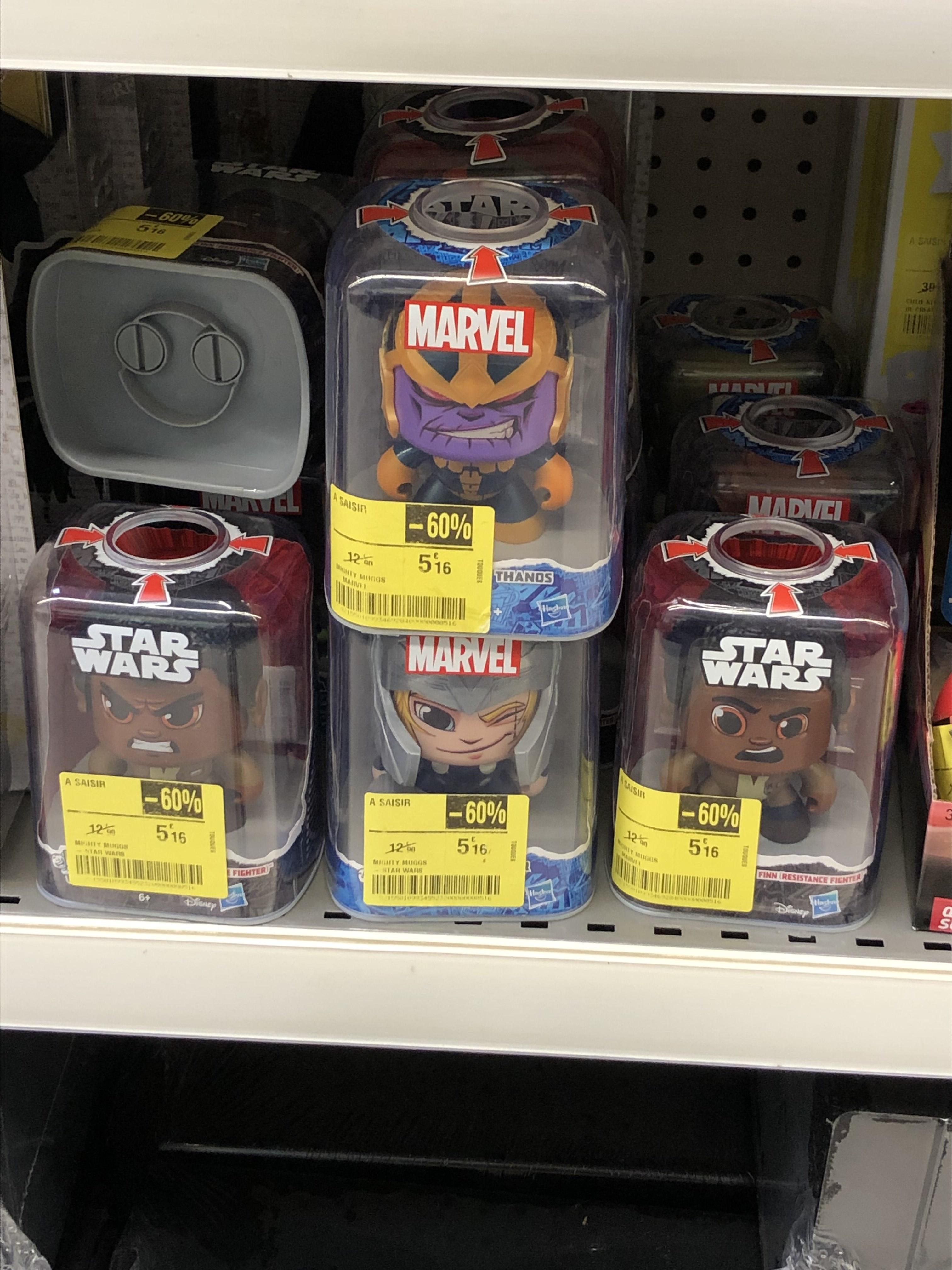 Sélection de figurines Mighty Muggs Marvel en promotion - Ex : Thor (Touques 14)
