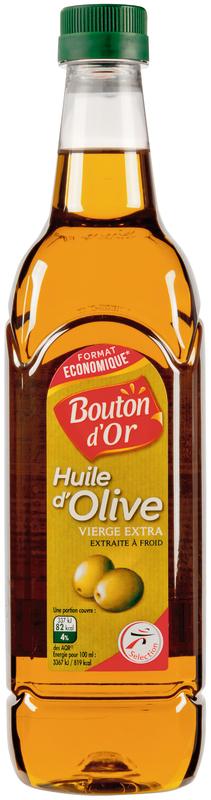 2 Bouteilles d'huile d'olive Bouton d'Or - 2x 1L
