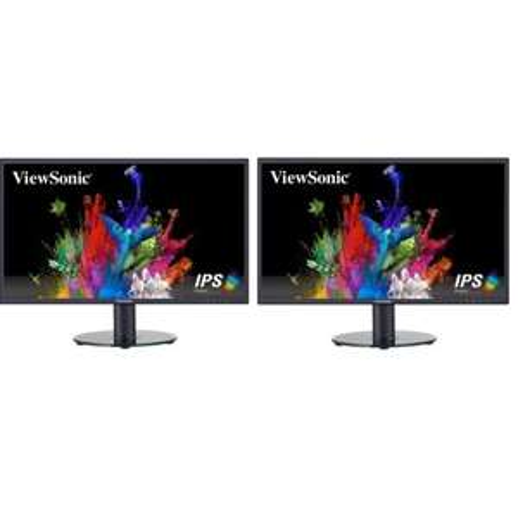 """Lot de 2 Ecrans PC 24"""" Viewsonic VA2419-SH - FHD, Dalle IPS, 5 ms, 60Hz"""