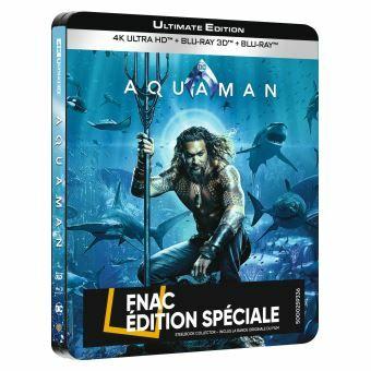 Blu-Ray Aquaman Steelbook Edition Spéciale Fnac (+5€ offerts sur compte fidélité pour les Adhérents)
