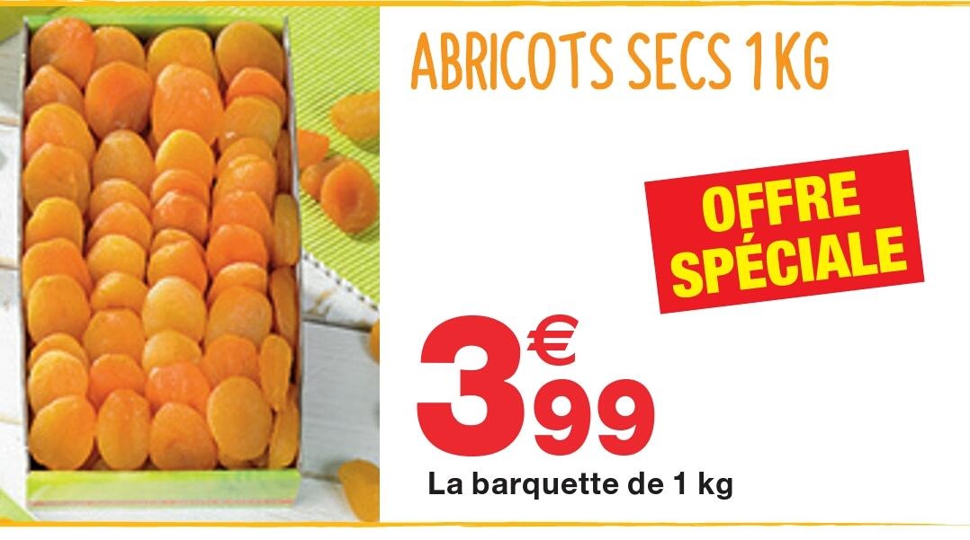 Abricots secs - 1Kg à 3.99 kg - Grand frais Noisiel (77)