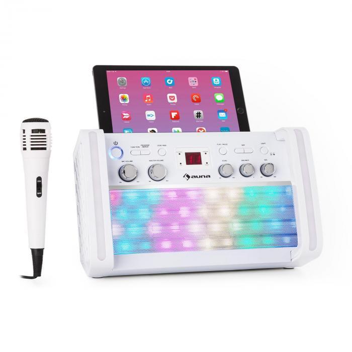 Chaîne karaoké Bluetooth 2.0 Auna DiscoFever - LED disco multicolore, lecteur de CD/CD+G
