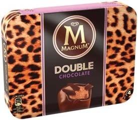 2 boites de 4 bâtonnets glacés Magnum Double Chocolat (Via BDR)