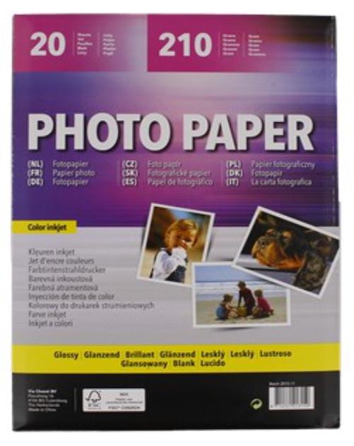 Papier photo A4 Glossy 210g (20 feuilles)