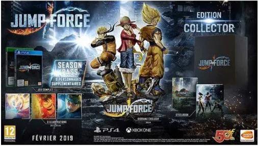 Jeu Jump Force - édition collector sur Xbox One et PS4