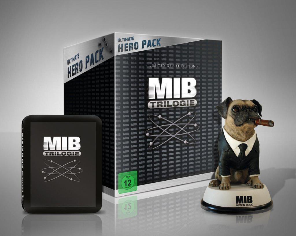 Sélection de coffrets DVD et Blu-Ray en promotion - Ex : Coffret Blu-ray Collector Trilogie Men in Black avec figurine Franck
