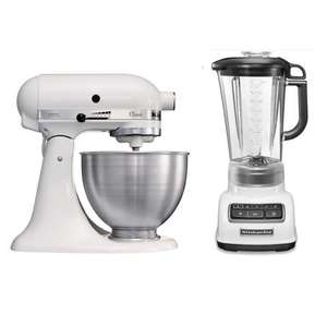 Pack KitchenAid Classic 5K45SS - 275W, 4.3L + Blender/Mixeur Classic Diamond 5KSB1585WH - 550W, 1.75L