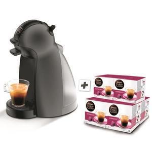 Machine à café Expresso Krups Dolce Gusto Piccolo YY2795FD - 1500 W, Gris + 6 paquets de café