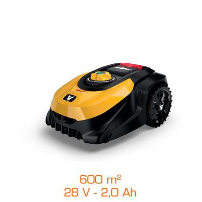 Robot tondeuse Mowox 28V + batterie Li-Ion 2,0 Ah - Largeur coupe 18cm, Jusqu'à 600 m²