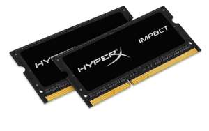 Kit mémoire SoDimm Kingston HyperX Impact 8 Go (2x 4 Go) DDR3L 1600MHz 1.35V CL9